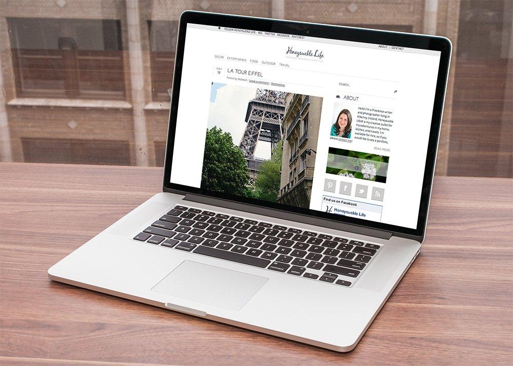 Honeysuckle Life Website Design - MacBook Version